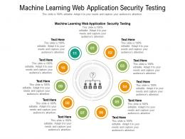 Machine Learning Web Application Security Testing Ppt Powerpoint Presentation Ideas Model Cpb