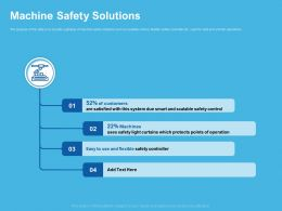Machine Safety Solutions Control Ppt Powerpoint Presentation Example 2015