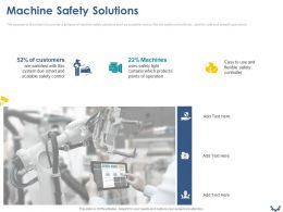 Machine Safety Solutions Ppt Powerpoint Presentation File Designs