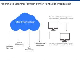 Machine To Machine Platform Powerpoint Slide Introduction