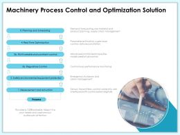 Machinery Process Control And Optimization Solution Loop Ppt Powerpoint Presentation Summary Styles
