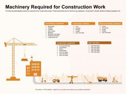 Machinery Required For Construction Work Mixtures Ppt Powerpoint Presentation File Designs