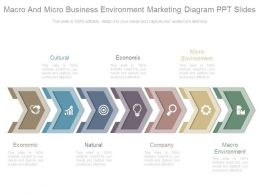 Macro And Micro Business Environment Marketing Diagram Ppt Slides