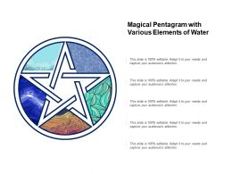 Magical Pentagram With Various Elements Of Water