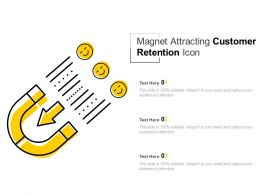 Magnet Attracting Customer Retention Icon