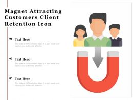 Magnet Attracting Customers Client Retention Icon