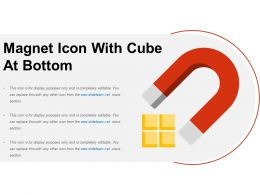 Magnet Icon With Cube At Bottom
