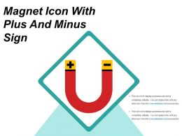 Magnet Icon With Plus And Minus Sign