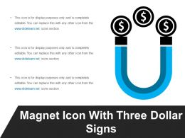 Magnet Icon With Three Dollar Signs