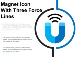 Magnet Icon With Three Force Lines