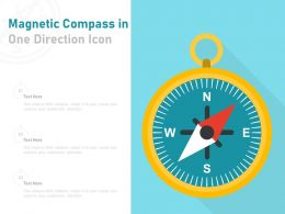 Magnetic Compass In One Direction Icon