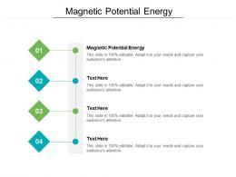 Magnetic Potential Energy Ppt Powerpoint Presentation Model Infographics Cpb