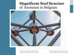 Magnificent Steel Structure Of Atomium In Belgium