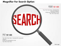 Magnifier For Search Option Flat Powerpoint Design