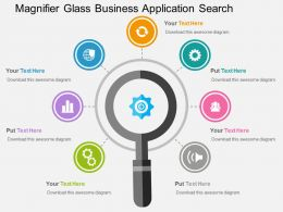 Magnifier Glass Business Application Search Flat Powerpoint Design