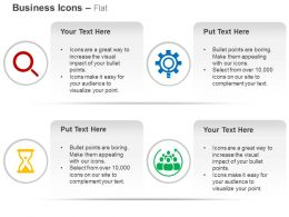 magnifier_process_gears_time_management_teamwork_ppt_icons_graphics_Slide01