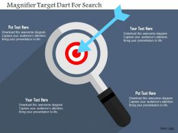 Magnifier Target Dart For Search Flat Powerpoint Design