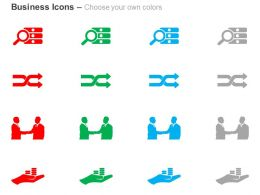 magnifier_two_way_arrow_business_deal_save_money_ppt_icons_graphics_Slide02