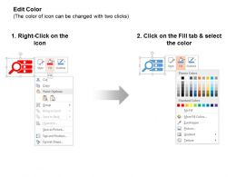 magnifier_two_way_arrow_business_deal_save_money_ppt_icons_graphics_Slide03