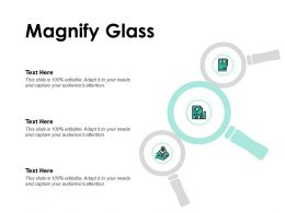 Magnify Glass Audience Attention Ppt Powerpoint Presentation Show Visuals