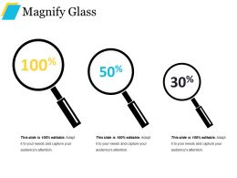 Magnify Glass Powerpoint Slide