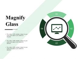 Magnify Glass Powerpoint Slide Background