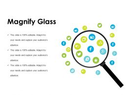 Magnify Glass Powerpoint Slide Background Picture