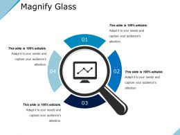Magnify Glass Ppt Background Template