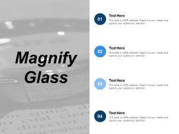Magnify Glass Ppt Slides Deck