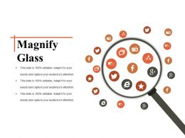 Magnify Glass Ppt Templates