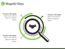 Magnify Glass Ppt Visual Aids Infographics