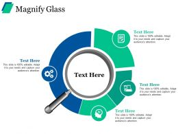 Magnify Glass Ppt Visual Aids Professional