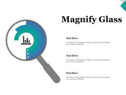 Magnify Glass Research Ppt Inspiration Graphics Template