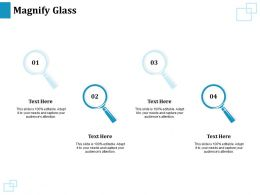 Magnify Glass Technology Marketing Ppt Powerpoint Presentation Infographics Infographics