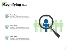 Magnifying Glass And Bulb Idea Ppt Powerpoint Presentation Model Icons