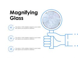 Magnifying Glass And Gears Ppt Powerpoint Presentation Outline Templates