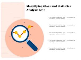 Magnifying Glass And Statistics Analysis Icon