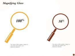 Magnifying Glass Audience Debt Restructuring Ppt Powerpoint Themes