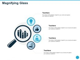 Magnifying Glass Audiences Attention Beyond Ppt Powerpoint Presentation Show