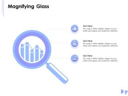 Magnifying Glass Audiences Attention N85 Ppt Powerpoint Presentation Guidelines