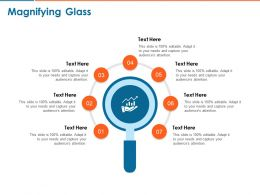 Magnifying Glass C1443 Ppt Powerpoint Presentation Outline Slides