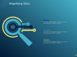 Magnifying Glass C1518 Ppt Powerpoint Presentation Infographics Deck