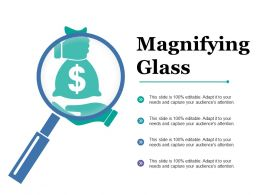 Magnifying Glass Dollar Ppt Powerpoint Presentation Model Backgrounds