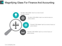 Magnifying Glass For Finance And Accounting Ppt Slide