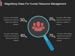 Magnifying Glass For Human Resource Management Ppt Example