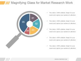 Magnifying Glass For Market Research Work Ppt
