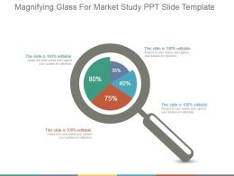Magnifying Glass For Market Study Ppt Slide Template