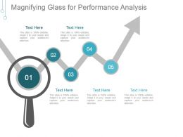 Magnifying Glass For Performance Analysis Ppt Background Designs
