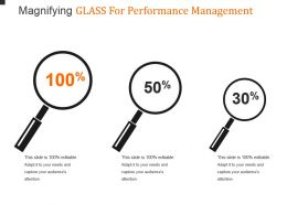 Magnifying Glass For Performance Management Powerpoint Slide Deck Samples