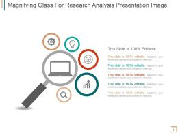 Magnifying Glass For Research Analysis Presentation Image